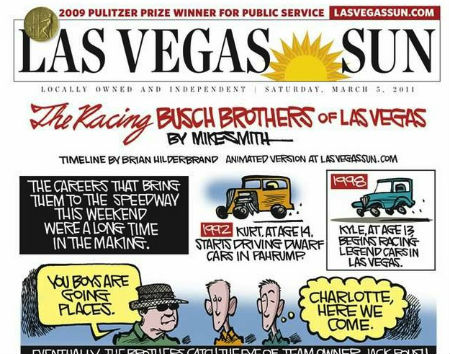 Busch Brothers comic book LVSun front page